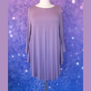 NWOT Roaman's Soft Flowy Purple Tunic 1X 22/24